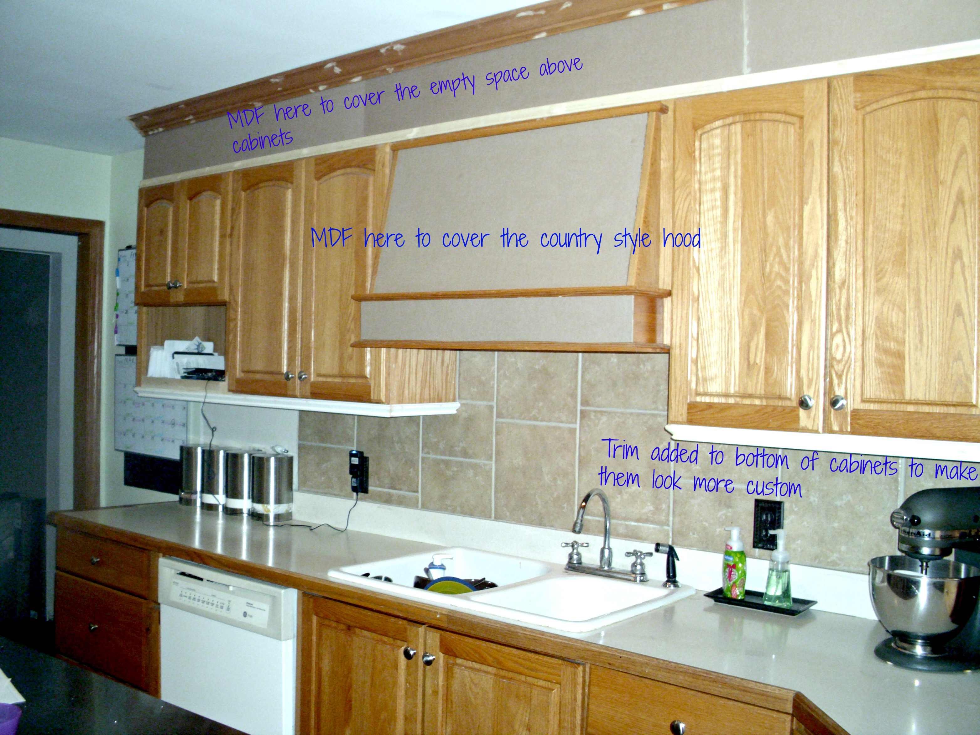 Bye Bye Space Above Your Kitchen Cabinets A Life That We Built